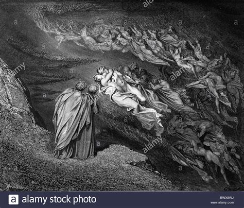 the dore illustrations for dante s comedy 136 plates by gustave dore gustave dor 233 dante and virgil meet paolo and fransesca in