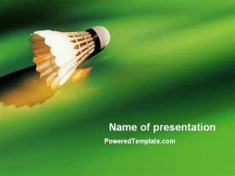 Badminton Powerpoint Template By Poweredtemplate Com Youtube Badminton Ppt Templates Free