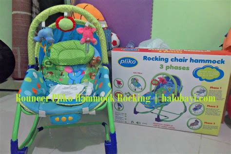 ayunan kursi manual bayi bouncer pliko hammock rocking