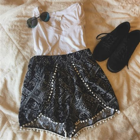 white patterned shorts h m black and white paisley patterned shorts from olivia