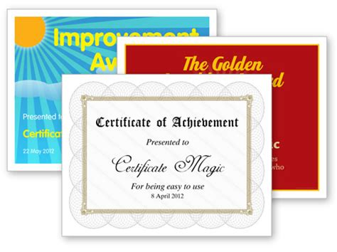 design your own certificate templates free certificate magic free certificate generator