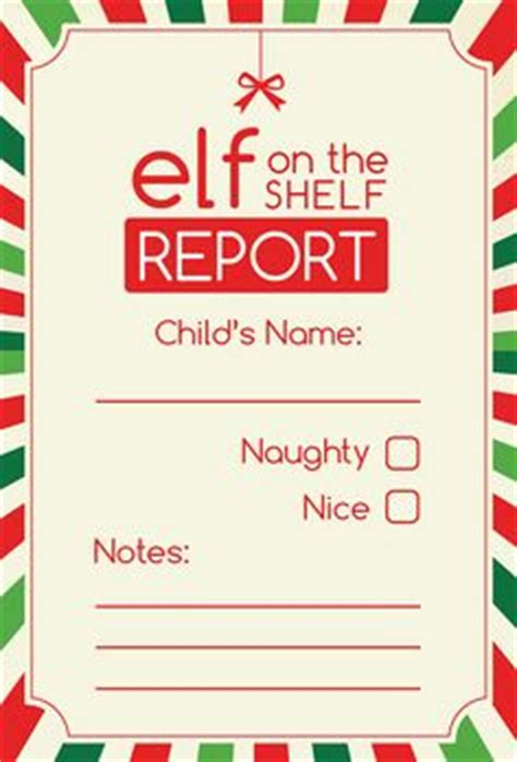 on the shelf card template warning letter from santa pdf by