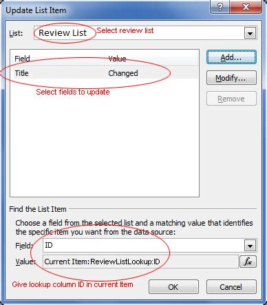 sharepoint designer workflow update list item 2010 can a workflow on one list update fields in a