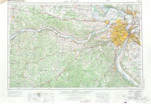 st louis on a map of the united states louis topographic map sheet united states 1969