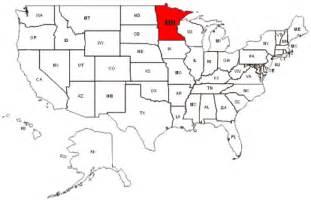 united states map minnesota minnesota map