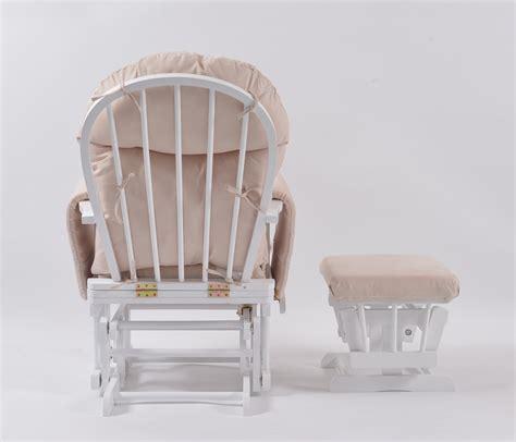 habebe recliner glider chair habebe glider chair stool white wood cream washable