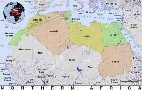 northern africa map northern africa 183 domain maps by pat the free