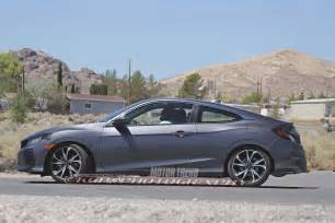 Hyundai Civic Coupe Spied 2017 Honda Civic Si Coupe Tests Wearing Minimal Camo