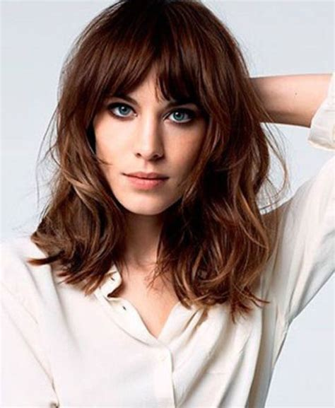 lob hairstyle pictures with bangs 20 different long bob with bangs lob haircut and