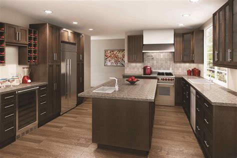 Chocolate Kitchen Cabinets by Brown Shaker Kitchen Cabinets Deductour