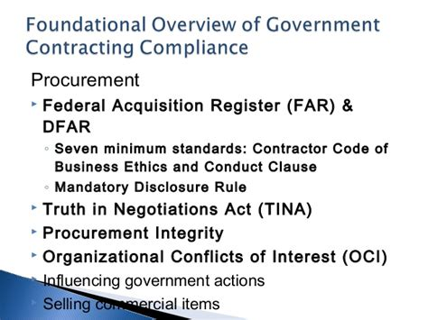 701 Government Contracts Relationships Building A Values Based Contractor Code Of Business Ethics And Conduct Template