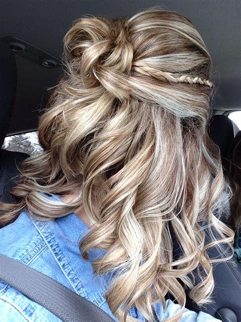 prom hair 2015 curly braid half up braids