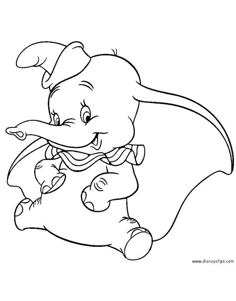 Dumbo Coloring Pages Disney Coloring Book Dumbo Coloring Pages
