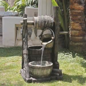 thalia wishing well garden water feature fountain with led