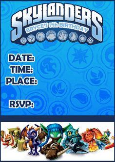 Faron S Birthday On Pinterest Skylanders Skylanders Party And Dinosaur Party Skylanders Birthday Invitations Template