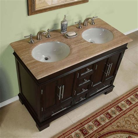 bathroom vanity double sink 48 inches silkroad exclusive hyp 0224 uwc 48 48 inch double sink