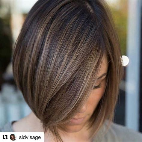 dark lowlight bob like the color with subtle highlights just hair fine