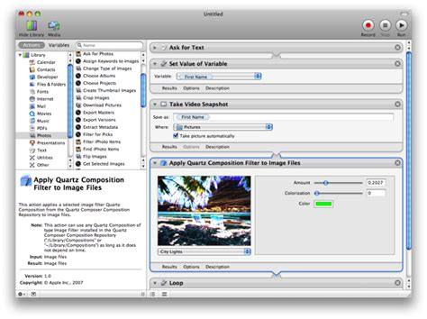 mac os x automator file extensions