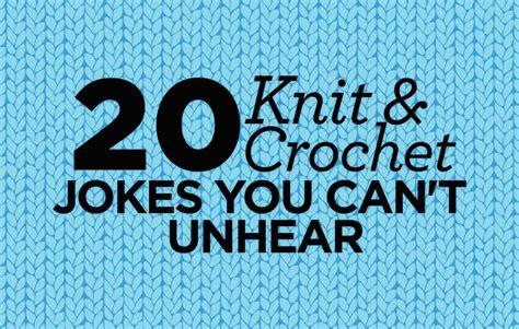 knitting puns crocheting jokes creatys for