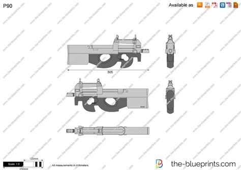 Online Blueprints the blueprints com vector drawing p90