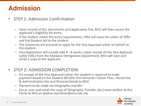 School Admission Confirmation Letter student information webinar manipal international