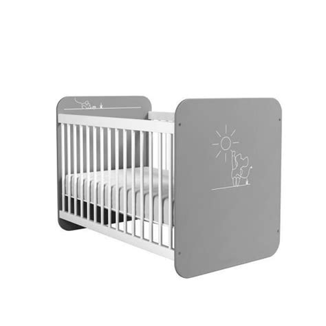 Kelby White kelby wooden cot bed in pearl white and grey with bars