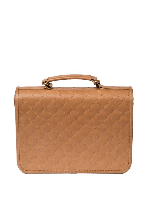 Leather Quilted by Quilted Leather Satchel Bag Camel Hay Hay