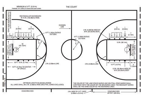 basketball court dimensions diagram college basketball floor shuffleboard court feature