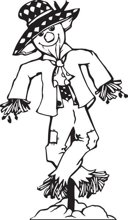 scarecrow coloring page scarecrow coloring pages bestofcoloring