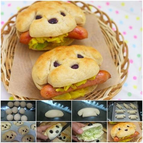 dogs with rolls of and dogs in bread rolls
