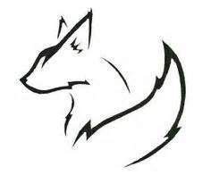 Love Wall Art Stickers fox outline drawing google search sablon 225 llat