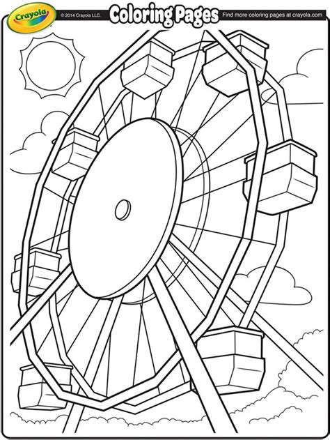 coloring pages color wheel at the fair ferris wheel crayola ca