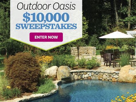 better homes and gardens sweepstakes better homes and gardens outdoor oasis sweepstakes