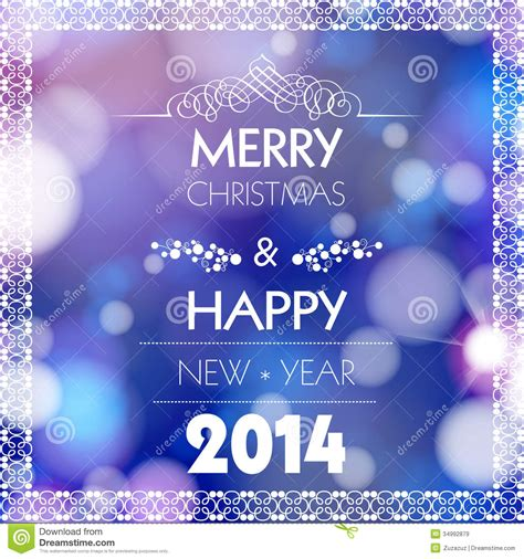 merry christmas  happy  year card design stock vector illustration  decoration card