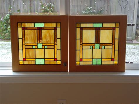 stained glass for kitchen cabinets handmade custom cabinet door stained glass panels by