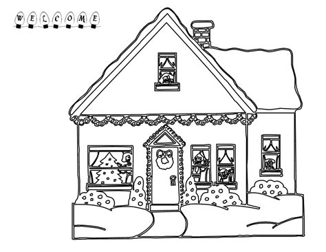 Coloring Page Up House by Gingerbread House Coloring Page Printable Coloring Home