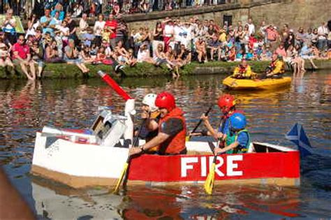 cardboard boat race linlithgow linlithgow canal centre