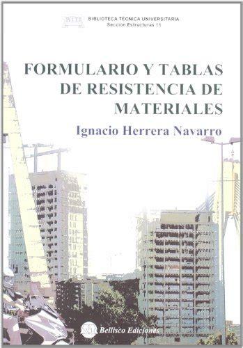 libro una forma de resistencia descargar libro formulario y tablas de resistencia de materiales online libreriamundial