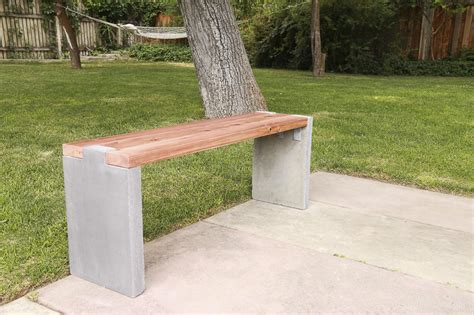 Patio Table Walmart Remodelaholic Modern Concrete And Redwood Bench Tutorial