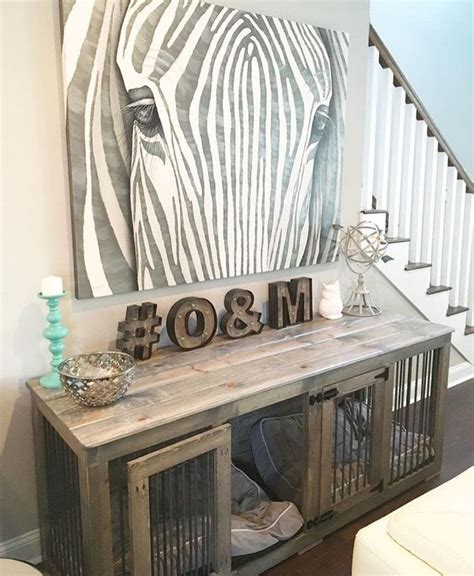 sofa table dog crate dog crate console table dog crates pinterest