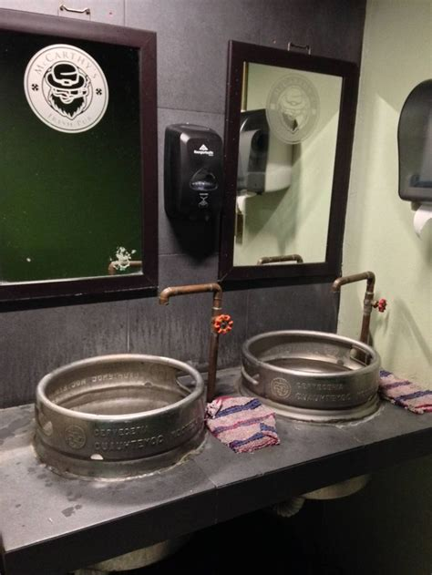 keg bathroom sink 25 best ideas about pub design on pub ideas
