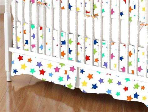 Colorful Crib Sheets by Primary Colorful On White Woven Crib Toddler
