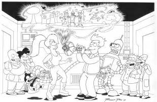 futurama book colouring pages