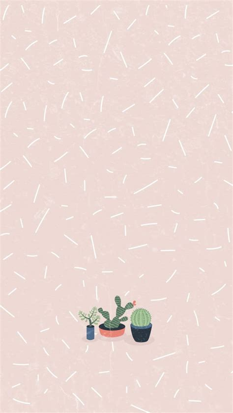 wallpaper tumblr pinterest cactus girl pastel iphone home wallpaper panpins phone