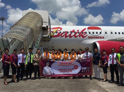 momen hpn  batik air resmikan rute penerbangan