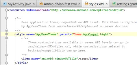 Android Cannot Resolve Symbol Theme by Gradle Why Does Android Studio Highlight Quot Theme Quot In