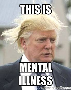 Mental Illness Meme - trump mental illness