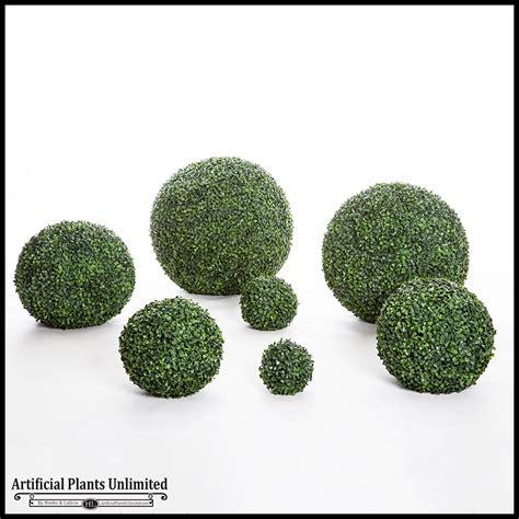 artificial topiary balls decorative faux boxwood balls exterior artificial