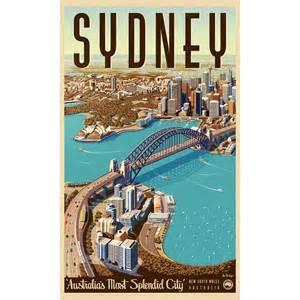Sydney retro poster the block shop