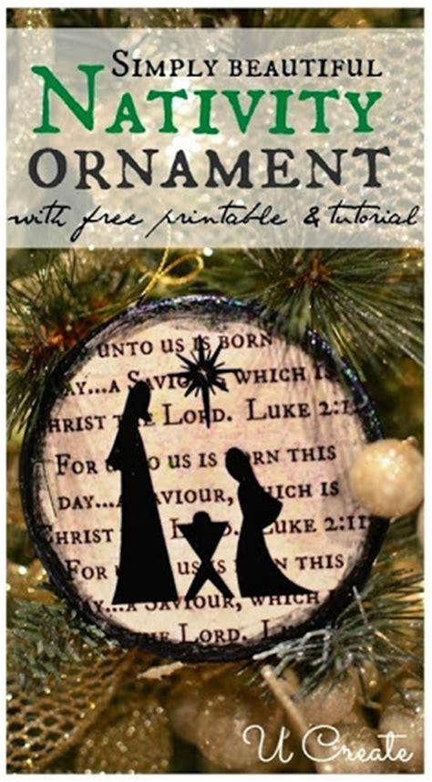 religious ornaments to make nativity ornament tutorial u create